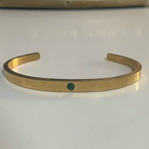 Ellandemm ell and Emm lock it cuff emerald gold